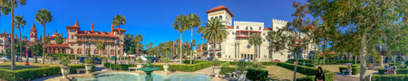 ST AUGUSTINE, FL - FEBRUARY 16, 2016: Beautiful panoramic view of city college. St Augustine is one of the oldest US cities. Editorial