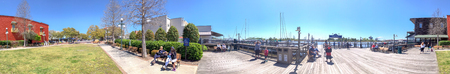 GEORGETOWN, SC - APRIL 5, 2018: Panoramic view of city waterfront. Georgetown is a famous attraction in South Carolina.