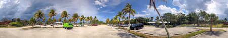 Panoramic view of Dubois Park on a stormy day, Jupiter, Florida. Stock Photo
