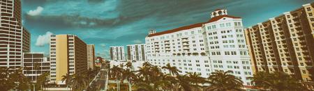 West Palm Beach aerial panoramic skyline, Florida.