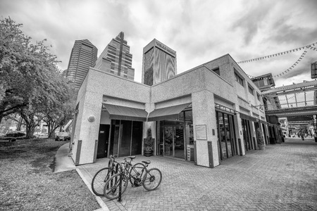 JACKSONVILLE, FL - APRIL 8, 2018: City streets in Downtown. Jacksonville is one of the biggest cities in Florida.