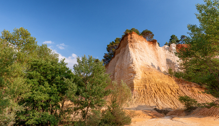 Amazing red landscape of Colorado Provencal, France.
