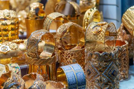 Gold Souk in Dubai, United Arab Emirates. Stock Photo