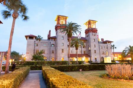 Lightner museum in St Augustine, sunset view.