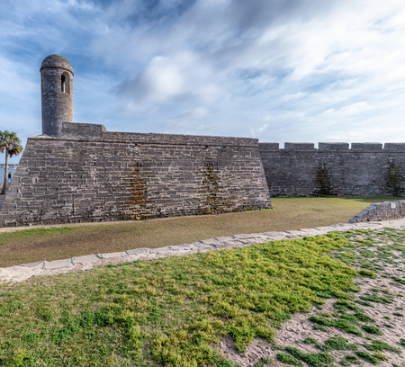 San Marcos Castle in St. Augustine, Florida, Ancient fort.