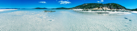 Belle vue panoramique sur la plage de Whitehaven dans le Queensland, en Australie. Banque d'images
