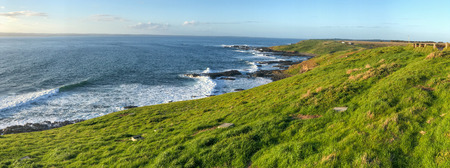Phillip Island, Australia. Panoramic view of Western Side of coastline on a beautiful sunset.