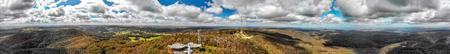 Mt Lofty panoramic aerial view, Adelaide, Australia.