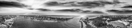 Panoramic aerial view of Jupiter from Dubois Park, Florida.