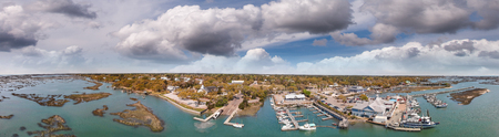 Panoramic aerial view of Georgetown skyline, South Carolina, USA. 版權商用圖片