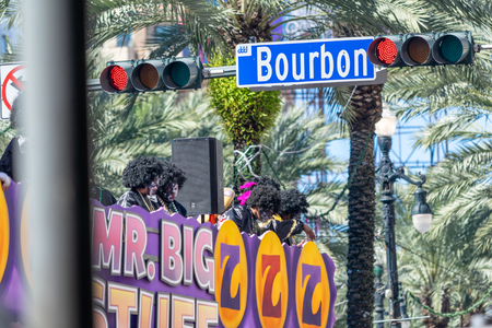 NEW ORLEANS - FEBRUARY 2016: Mardi Gras Parade along city streets. This is the major event of the year.
