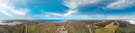 Kangaroo Island aerial view of beautiful campaign, Prospect Hill area