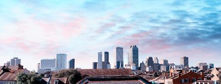 Beautiful skyline of New Orleans at sunset, Louisiana.