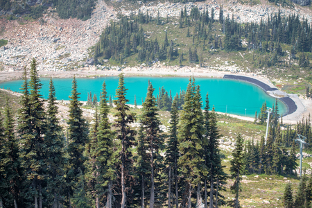 Beautiful lake of Whistler Mountains, Canada in summer Stock Photo