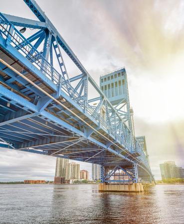 John T. Alsop Jr. Bridge in Jacksonville, FL. It is a bridge crossing the St. Johns River . Stock Photo