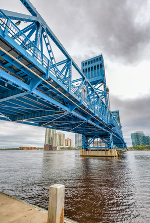 John T. Alsop Jr. Bridge in Jacksonville, FL. It is a bridge crossing the St. Johns River . Stock Photo
