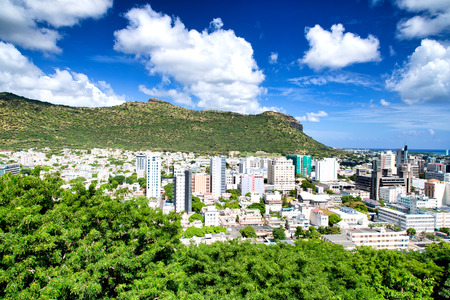 Aerial view of Port Louis - Mauritius.