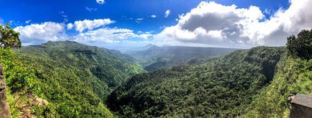 Panoramic aerial view of Tropical Forest on a sunny day. Stok Fotoğraf