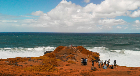 La Roche Qui Pleure and Gris Gris Beach, Mauritius aerial view.