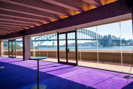 SYDNEY - AUGUST 20, 2018: Interior of beautiful Sydney Opera House. Sydney attracts 20 million tourists annually.