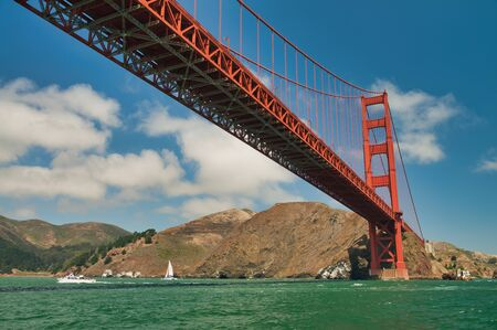 San Francisco. Golden Gate Bridge on a beautiful summer day.