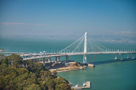 San Francisco. Bay Bridge on a beautiful summer day. Banco de Imagens