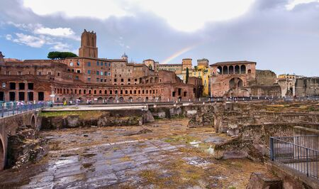 Imperial Forums in Rome, Italy.