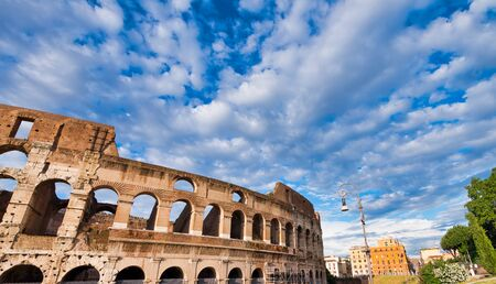 Colosseum on a sunny day in Rome, Italy. 写真素材