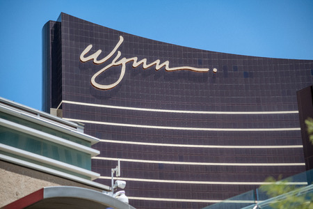 LAS VEGAS - JULY 1, 2018: Wynn Hotel exterior viewon a sunny day. This is one of the most famous hotels in Las Vegas.