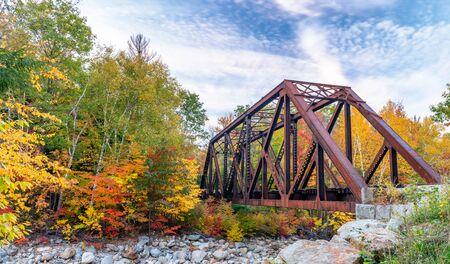 Crawford Notch State Park Bridge, New Hampshire.