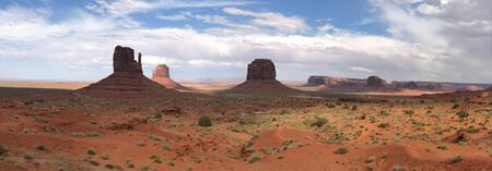 Panoramic view of beautiful Monument Valley. Imagens
