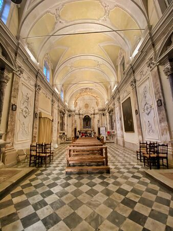 PISA, ITALY - SEPTEMBER 27, 2019: Interior of Saint Anna Church.