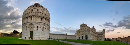 Cathedral of Pisa at sunset, Field of Miracles, Tuscany, Italy.