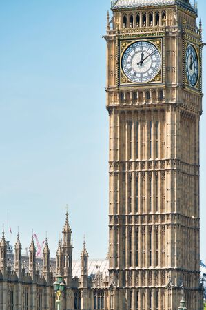The Big Ben Tower in London, UK. Stock Photo
