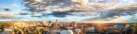 Amazing aerial panorama of Adelaide from drone, Australia. Stock Photo
