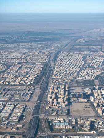 Aerial view of Kuwait City. Buildings of Kuwait.
