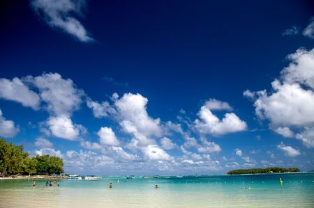 Blue Bay Beach in Mauritius.