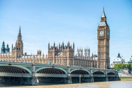 Westminster Bridge and River Thames, London, UK