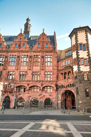 Ancient medieval buildings of Central Frankfurt, Germany Standard-Bild