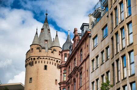 Ancient buildings of Downtown Frankfurt, Germany.