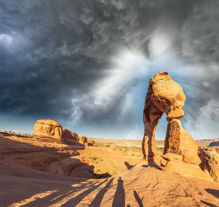 Surrounding landscape of Delicate Arch, Arches National Park, USA.