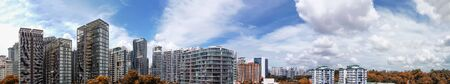 Panoramic aerial view of Emerald Hill area in Singapore.