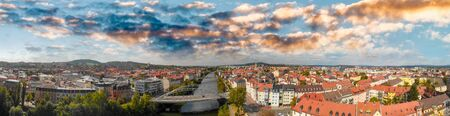 Bamberg, Germany. Amazing aerial view on a sunny day.