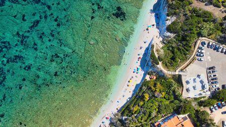 Elba Island, Italy. Amazing aerial view of Padulella Beach near Portoferraio.
