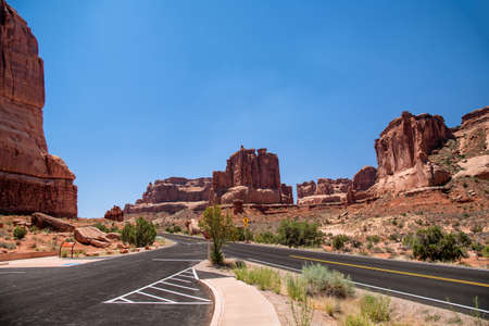 Dead Horse Point National scenic landscape view red rock, USA 版權商用圖片 - 156668925