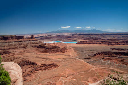 Dead Horse Point National scenic landscape view red rock, USA