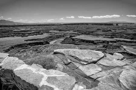 Checkerboard Mesa, famous mountain in Zion National Park, USA. 版權商用圖片