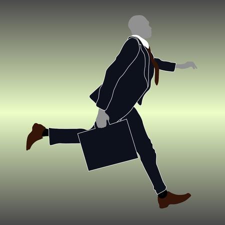 workteam: businessman running