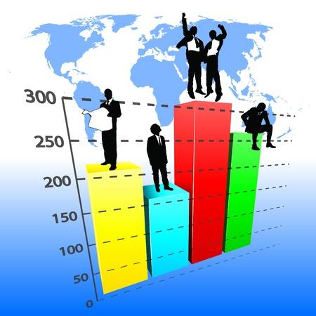 demografico: vector de gr�fico de negocio