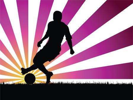 soccer player Stock Vector - 10231548
